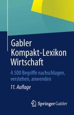 - Gabler Kompakt-Lexikon Wirtschaft, ebook