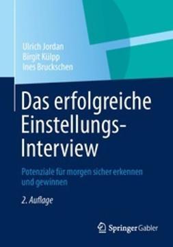 Jordan, Ulrich - Das erfolgreiche Einstellungs-Interview, ebook