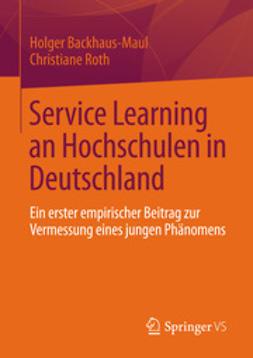Backhaus-Maul, Holger - Service Learning an Hochschulen in Deutschland, ebook