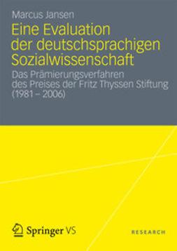 Jansen, Marcus - Eine Evaluation der deutschsprachigen Sozialwissenschaft, ebook