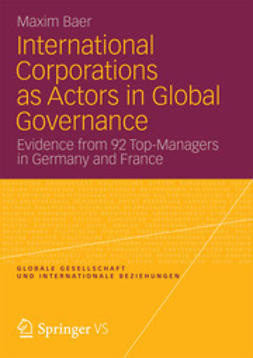 Baer, Maxim - International Corporations as Actors in Global Governance, ebook