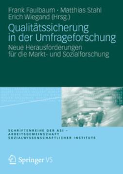 Faulbaum, Frank - Qualitätssicherung in der Umfrageforschung, e-kirja
