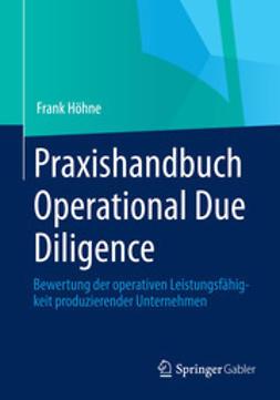 Höhne, Frank - Praxishandbuch Operational Due Diligence, e-kirja