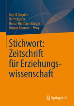 Gogolin, Ingrid - Stichwort: Zeitschrift für Erziehungswissenschaft, ebook