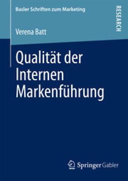Batt, Verena - Qualität der Internen Markenführung, ebook