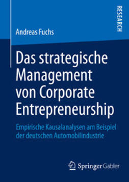 Fuchs, Andreas - Das strategische Management von Corporate Entrepreneurship, ebook