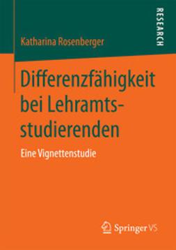 Rosenberger, Katharina - Differenzfähigkeit bei Lehramtsstudierenden, ebook