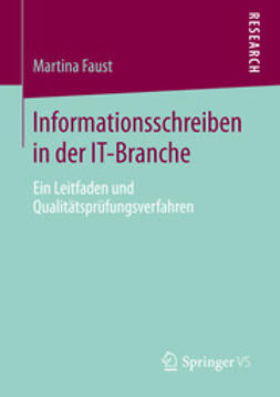 Faust, Martina - Informationsschreiben in der IT-Branche, ebook
