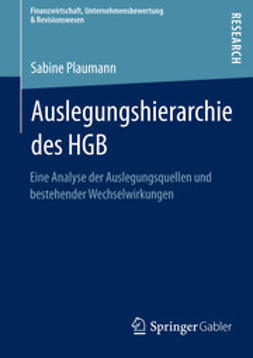 Plaumann, Sabine - Auslegungshierarchie des HGB, ebook