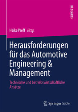 Proff, Heike - Herausforderungen für das Automotive Engineering & Management, ebook