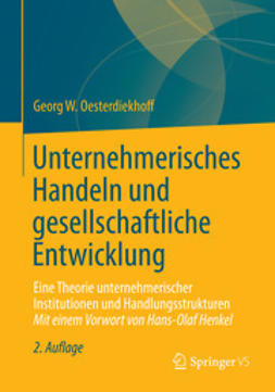 Oesterdiekhoff, Georg W. - Unternehmerisches Handeln und gesellschaftliche Entwicklung, ebook
