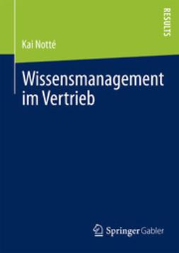 Notté, Kai - Wissensmanagement im Vertrieb, ebook