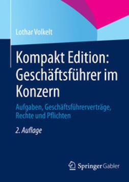 Volkelt, Lothar - Kompakt Edition: Geschäftsführer im Konzern, ebook