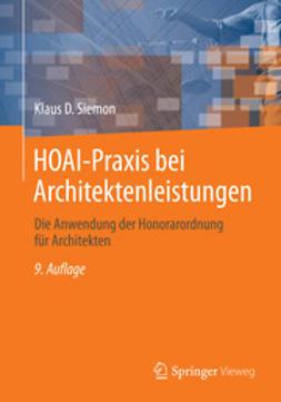 Siemon, Klaus D. - HOAI-Praxis bei Architektenleistungen, ebook