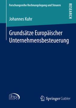 Kuhr, Johannes - Grundsätze Europäischer Unternehmensbesteuerung, ebook