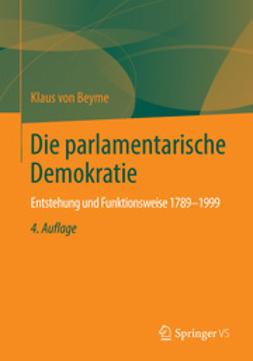 Beyme, Klaus von - Die parlamentarische Demokratie, ebook