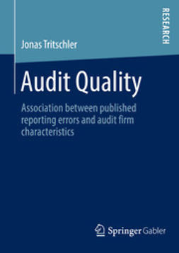 Tritschler, Jonas - Audit Quality, ebook