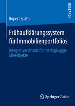 Späth, Rupert - Frühaufklärungssystem für Immobilienportfolios, ebook