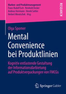Spomer, Olga - Mental Convenience bei Produktlinien, ebook
