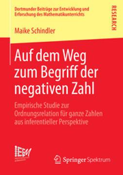 Schindler, Maike - Auf dem Weg zum Begriff der negativen Zahl, ebook