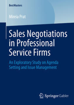 Prat, Mireia - Sales Negotiations in Professional Service Firms, e-bok