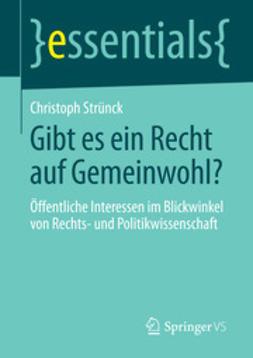 Strünck, Christoph - Gibt es ein Recht auf Gemeinwohl?, ebook