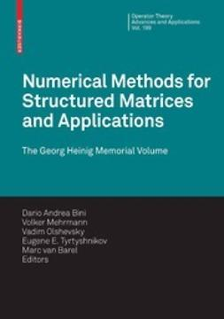 Bini, Dario Andrea - Numerical Methods for Structured Matrices and Applications, ebook