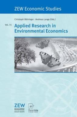 Böhringer, Christoph - Applied Research in Environmental Economics, ebook