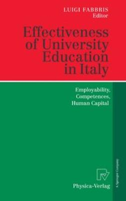 Fabbris, Luigi - Effectiveness of University Education in Italy, e-kirja