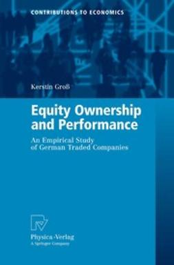 Groß, Kerstin - Equity Ownership and Performance, e-kirja