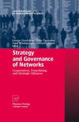 Cliquet, Gérard - Strategy and Governance of Networks, ebook