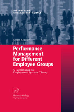 Krausert, Achim - Performance Management for Different Employee Groups, ebook