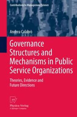 Calabrò, Andrea - Governance Structures and Mechanisms in Public Service Organizations, e-kirja