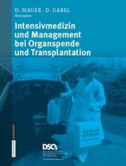 Gabel, Doris - Intensivmedizin und Management bei Organspende und Transplantation, ebook