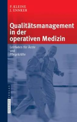Ennker, Jürgen - Qualitätsmanagement in der operativen Medizin, e-bok