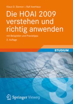 Siemon, Klaus D. - Die HOAI 2009 verstehen und richtig anwenden, ebook