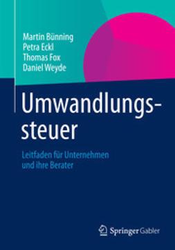 Bünning, Martin - Umwandlungssteuer, ebook