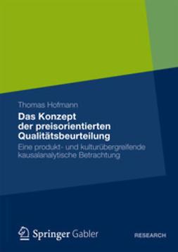 Hofmann, Thomas - Das Konzept der preisorientierten Qualitätsbeurteilung, ebook