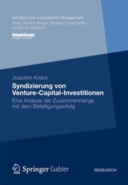 Krebs, Joachim - Syndizierung von Venture-Capital-Investitionen, e-bok