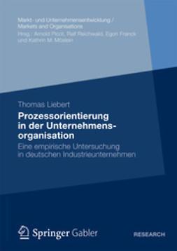 Liebert, Thomas - Prozessorientierung in der Unternehmensorganisation, ebook