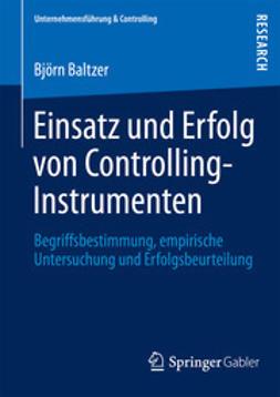 Baltzer, Björn - Einsatz und Erfolg von Controlling-Instrumenten, ebook