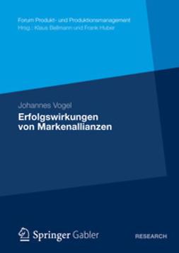 Vogel, Johannes - Erfolgswirkungen von Markenallianzen, ebook