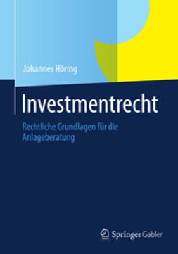 Höring, Johannes - Investmentrecht, e-bok
