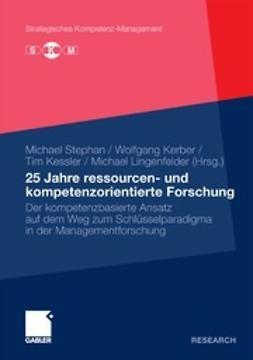 Stephan, Michael - 25 Jahre ressourcen- und kompetenzorientierte Forschung, ebook