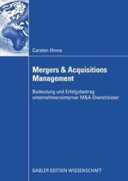Hinne, Carsten - Mergers & Acquisitions Management, ebook