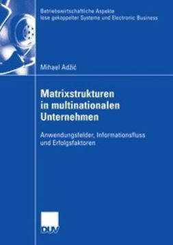 Adžić, Mihael - Matrixstrukturen in multinationalen Unternehmen, ebook