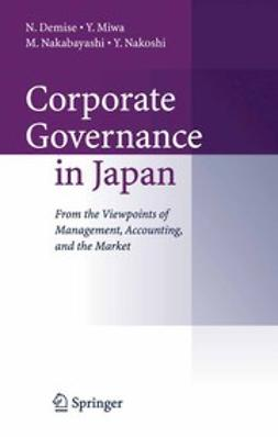 Demise, Nobuyuki - Corporate Governance in Japan, ebook