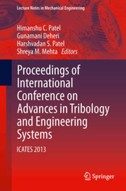 Patel, Himanshu C. - Proceedings of International Conference on Advances in Tribology and Engineering Systems, ebook