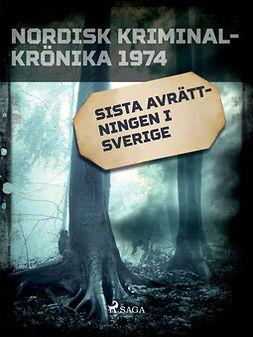 - Sista avrättningen i Sverige, e-bok