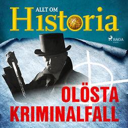 Bergström, Joachim - Olösta kriminalfall, audiobook